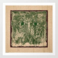 gaia mandala Art Print