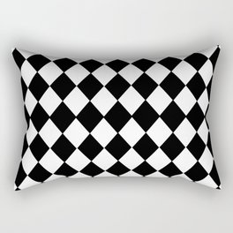HARLEQUIN BLACK AND WHITE PATTERN #2 Rectangular Pillow