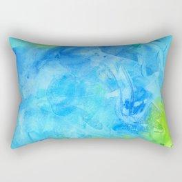 Ocean Breeze Watercolor Texture Rectangular Pillow