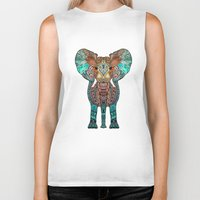 boho Biker Tanks featuring ElePHANT by Monika Strigel®