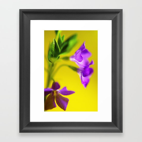 yellow and purple trio Framed Art Print
