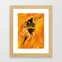 Peggy and Diana Framed Art Print