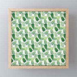 Summer Leaves - White Background Framed Mini Art Print