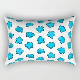 Meeple Mania Icy Blue Rectangular Pillow