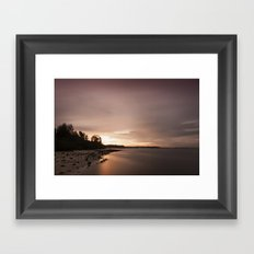 Gloomy evening. Framed Art Print