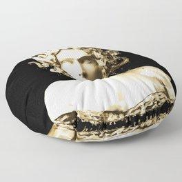 Gold Medusa Floor Pillow