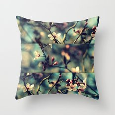 Vintage Blossoms - Triptych Throw Pillow