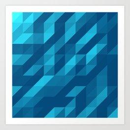 Polygon Five Art Print