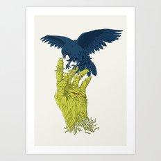 Corvo-papa-zumbi Art Print