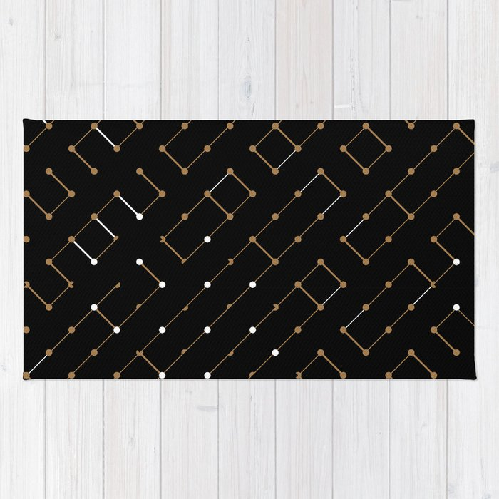 Artis 2.0, No.12 in Black & Gold Rug