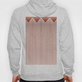 Art Deco Geometric Arrowhead Dusty Peach Design Hoody