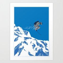Ski Jump Kunstdrucke