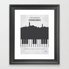 No192 My Casablanca minimal movie poster Framed Art Print