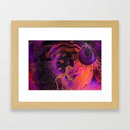 Drop and an Ocean _Acid Wash Framed Art Print