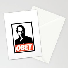 Obey Steve Jobs Stationery Cards