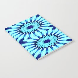 Turquoise Blue Pinwheel Flowers Notebook
