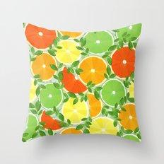 A Slice of Citrus Throw Pillow
