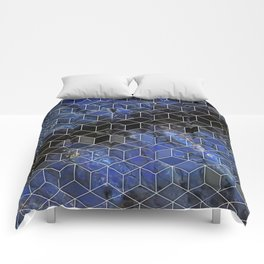 night sky cubed Comforters