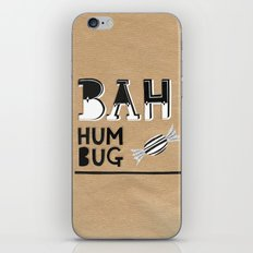 Bah Humbug! - Christmas Card iPhone & iPod Skin