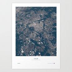 Lille City Map Art Print