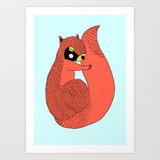 Sleeping Squirrel  Art Print
