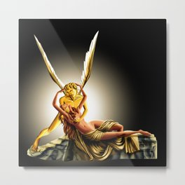 CUPID AND PSYCHE Metal Print