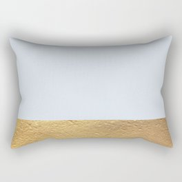 Color Blocked Gold & Periwinkle Rectangular Pillow