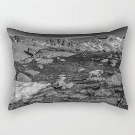 Mountain Goat at Twin Lakes Rectangular Pillow