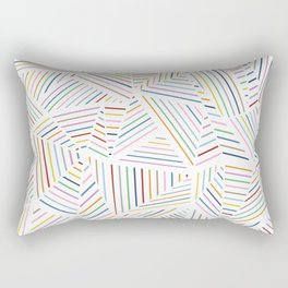 Ab Linear Rainbowz Rectangular Pillow