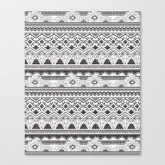 CRYSTAL AZTEC B/W  Canvas Print