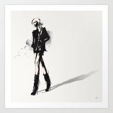 Fringe - Fashion Illustration Art Print