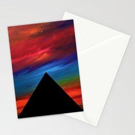 Fire Sky - Pyramids Silhouette Stationery Cards
