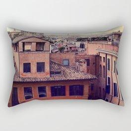 Rooftops of Roma Rectangular Pillow