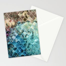 Textured Moroccan Pattern Stationery Cards