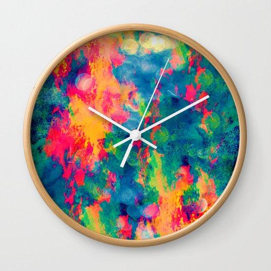 Summer Swirl Wall Clock