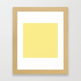 Daffodil Yellow - Solid Color Collection Framed Art Print