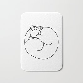 Sleeping Cat Bath Mat
