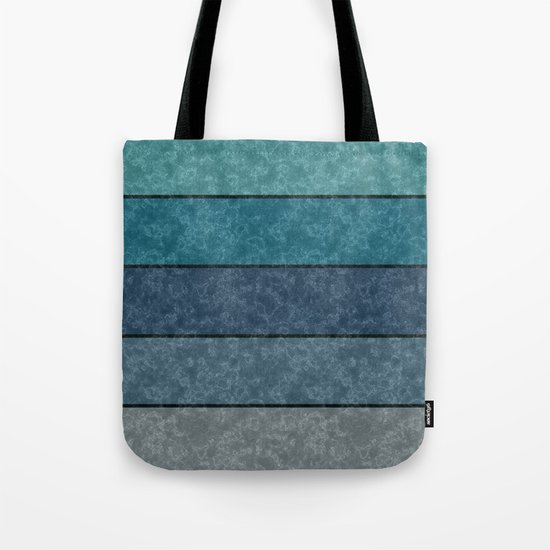 Blue and gray marble striped pattern . Tote Bag