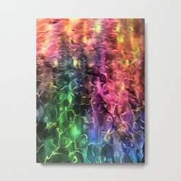 The End Of The Rainbow Abstract Metal Print