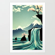 Waterfall blossom dream Art Print