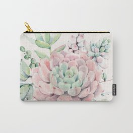 Perfect Pink Succulent Carry-All Pouch