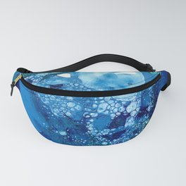 Environmental Blue Leaves, Tiny World Collection Fanny Pack