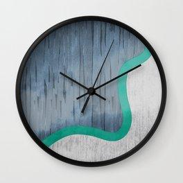 River Swoosh Wall Clock
