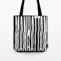 manhattan Tote Bags featuring Manhattan by Hoods