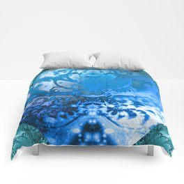 Meditating Entity (blue) Comforters