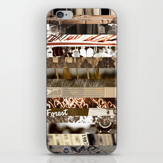 Brown Intersections iPhone & iPod Skin