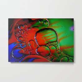 Oil and Water Abstract Study in Brilliant Colors Metal Print