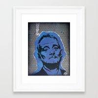 bill murray Framed Art Prints featuring Bill Murray by ChrisCleveland