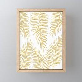 Fern Pattern Gold Framed Mini Art Print