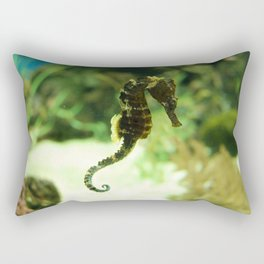 Tropical Seahorse with Coral Rectangular Pillow